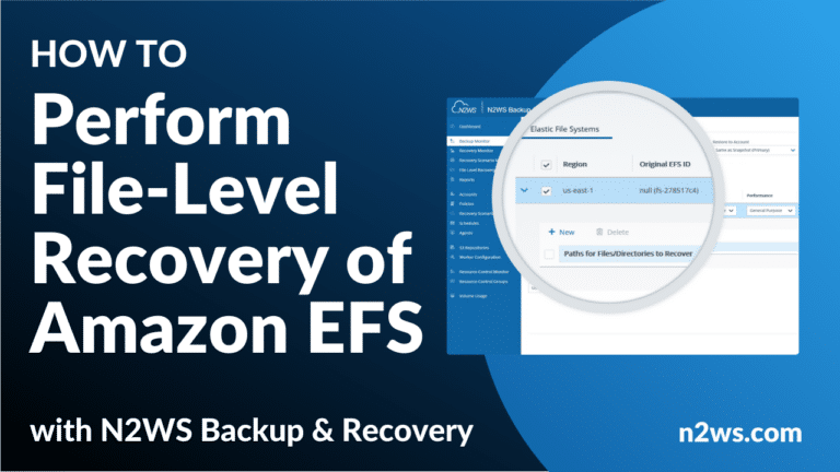How to perform file-level recovery of Amazon EFS